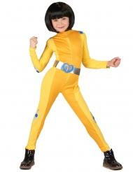 Spionin-Kinderkostüm für Fasching Kindheitshelden gelb-silberfarben
