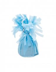 Luftballon-Beschwerer Ballon-Gewicht mit Fransen Partydeko 6 Stück blau