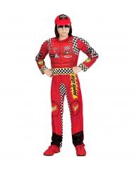 Sportliches Rennfahrer-Kostüm für Kinder Karnevals-Verkleidung rot
