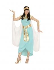 Ägyptische-Göttin Damenkostüm für Karneval türkis-goldfarben