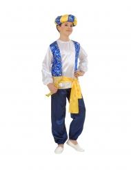 Arabisches-Prinzenkostüm für Jungen Faschings-Verkleidung blau-weiss-gold