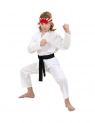 Karate-Anzug-Kinderkostüm Karnevals-Verkleidung weiss-schwarz