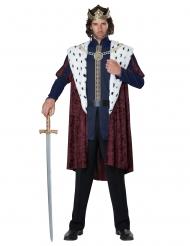 Prunkvoller Märchenkönig Herrenkostüm für Fasching bunt