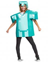 Minecraft™-Kostüm Diamant-Rüstung für Erwachsene türkis