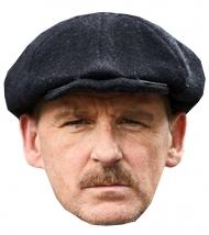 Britischer Schauspieler-Pappmaske für Mottopartys hautfarben-grau