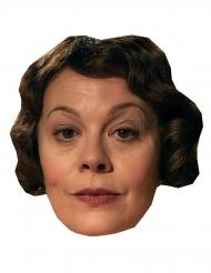 Britische Schauspielerin-Pappmaske für Karneval hautfarben-braun