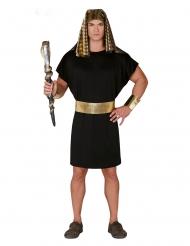Antikes Pharao-Kostüm für Herren Karnevals-Verkleidung schwarz-goldfarben