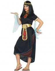 Ägyptische-Prinzessin antikes-Damenkostüm für Karneval schwarz-gold