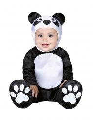 Pandabär-Babykostüm Tier-Overall für Karneval schwarz-weiss