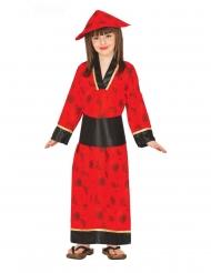 Geisha-Kostüm für Mädchen japanische-Verkleidung für Karneval rot-schwarz