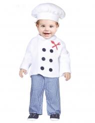 Kleiner Koch Kinderkostüm für Karneval Berufe & Uniformen blau-weiss