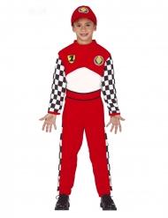 Rennfahrer-Kinderkostüm für Karneval Overall rot-weiss-schwarz
