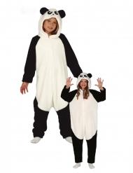 Panda-Kostüm Tier-Overall Einteiler für Kinder weiss-schwarz