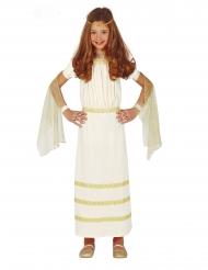 Römisches Mädchenkostüm für Karneval Antike-Verkleidung weiss-goldfarben