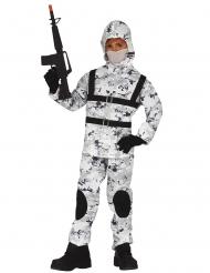 Arktisches Soldatenkostüm für Kinder Karnevals-Verkleidung grau-weiss-schwarz