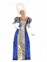 Historisches Barock-Kostüm für Damen Gräfin Karnevals-Verkleidung blau-gold