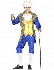 Historisches Barock-Kostüm für Herren Karnevals-Verkleidung blau-gold