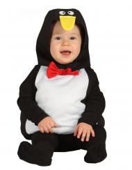 Süßes Pinguin-Kostüm für Kleinkinder Babykostüm schwarz-weiss-rot