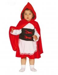 Bezauberndes Rotkäppchen-Kostüm für Kleinkinder Mädchen-Verkleidung schwarz-rot-weiss