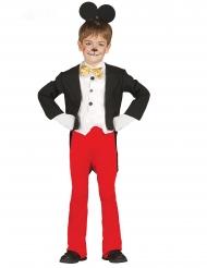 Kultiges Mauskostüm für Kinder Zeichentrickfigur schwarz-weiss-rot