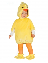 Niedliches Küken-Babykostüm für Karneval und Ostern gelb-orange