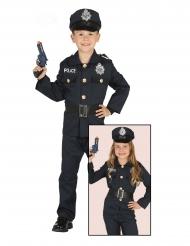 Polizei-Kostüm für Kinder Uniform-Verkleidung Karneval blau-schwarz