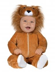 Löwen-Babykostüm für Karneval Tier-Overall braun