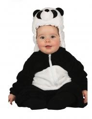 Pandabär-Babykostüm für Karneval Tier-Overall schwarz-weiss