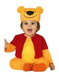 Süßes Bärenkostüm für Kleinkinder Karnevals-Verkleidung gelb-rot