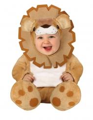 Löwe-Babykostüm Tier-Overall für Karneval Zoo braun-weiss