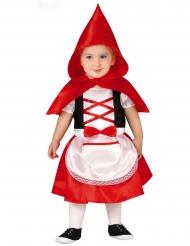 Märchenhaftes Rotkäppchen-Kostüm für Mädchen Karneval rot-schwarz-weiss
