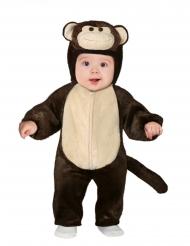 Süßes Affenbaby-Kostüm für Karneval Tier-Overall braun-beige