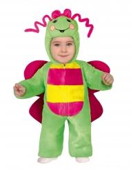 Kleine Raupe Babykostüm für Karneval Tier-Overall grün-gelb-pink