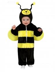 Niedliches Bienenkostüm für Kleinkinder Karneval-Kostüm schwarz-gelb