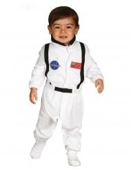 Kleiner Astronaut Kinderkostüm für Karneval weiss-schwarz