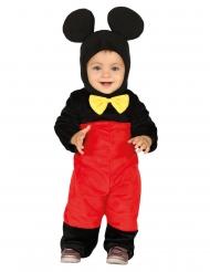 Kultiges Maus-Kostüm für Kleinkinder Karnevals-Verkleidung schwarz-rot-gelb