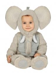 Elefanten-Kostüm für Kleinkinder Tier-Overall grau