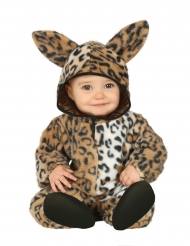 Süßes Leoparden-Kostüm für Kleinkinder Tier-Overall braun-schwarz-weiss