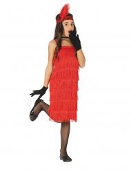 20er-Jahre Charleston-Kostüm für Kinder Karneval rot