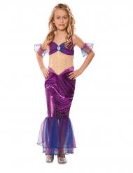 Meerjungfrauen-Kostüm für Mädchen Unterwasser-Wesen lila-blau