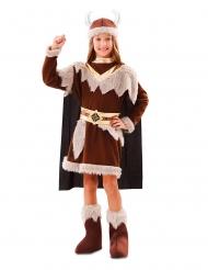 Starkes Wikinger-Kostüm für Mädchen Faschings-Verkleidung braun