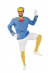 Matrosen-Ente Kostüm für Herren Faschingskostüm weiss-blau