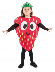 Süßes Erdbeer-Kostüm für Kinder Faschings-Verkleidung rot-gelb-weiss