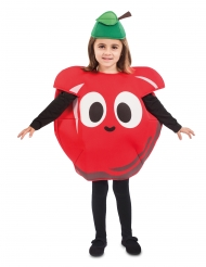 Lustiges Apfelkostüm für Kinder freches Früchtchen bunt