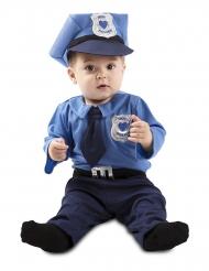 Polizei-Kostüm für Kleinkinder Faschings-Verkleidung blau-silber