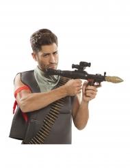 Granatwerfer-Spielzeugwaffe Kostüm-Zubehör für Fasching schwarz-gold 51cm