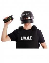Taser Polizei-Accessoire Faschingsaccessoire schwarz 7 cm