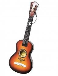 Hawaii-Ukulele Spielzeug-Instrument für Fasching braun 58cm