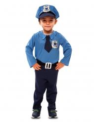 Polizei-Kostüm für Jungen Faschings-Verkleidung blau-silber