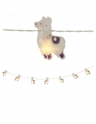 Lichterkette mit Lamas Party-Zubehör 10 LED-Lichter bunt 165 cm